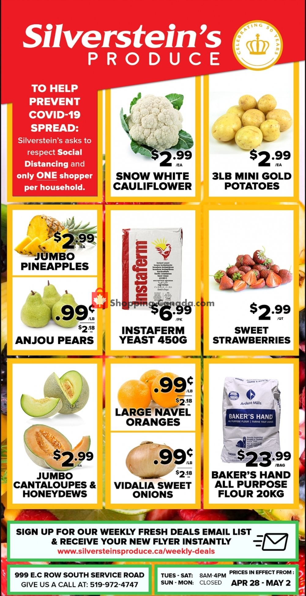 Flyer Silverstein's Produce Canada - from Tuesday April 28, 2020 to Saturday May 2, 2020