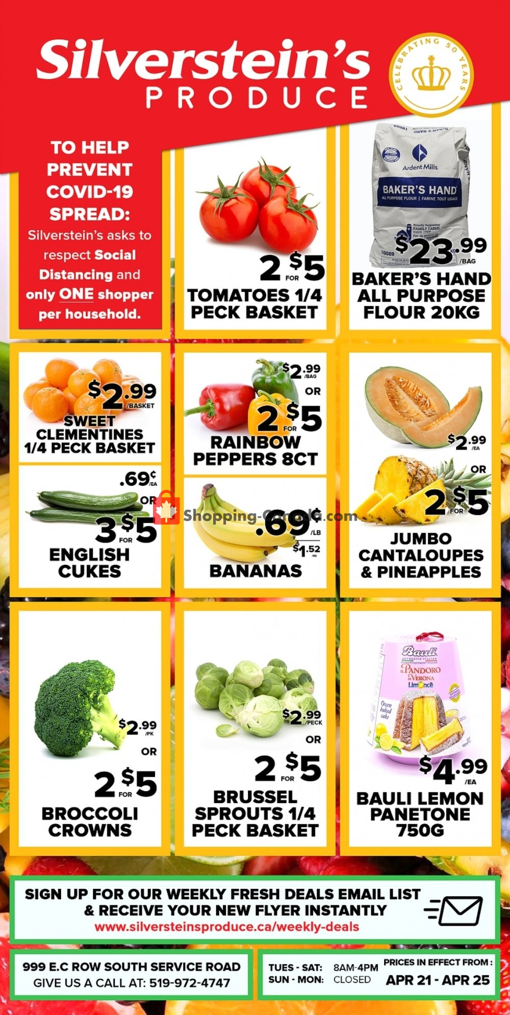 Flyer Silverstein's Produce Canada - from Tuesday April 21, 2020 to Saturday April 25, 2020