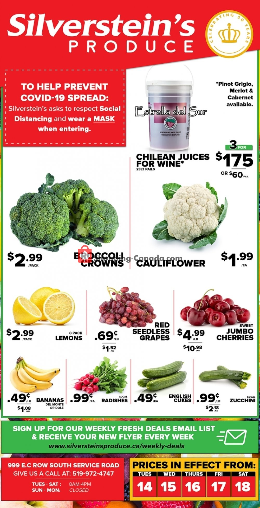Flyer Silverstein's Produce Canada - from Tuesday July 14, 2020 to Saturday July 18, 2020