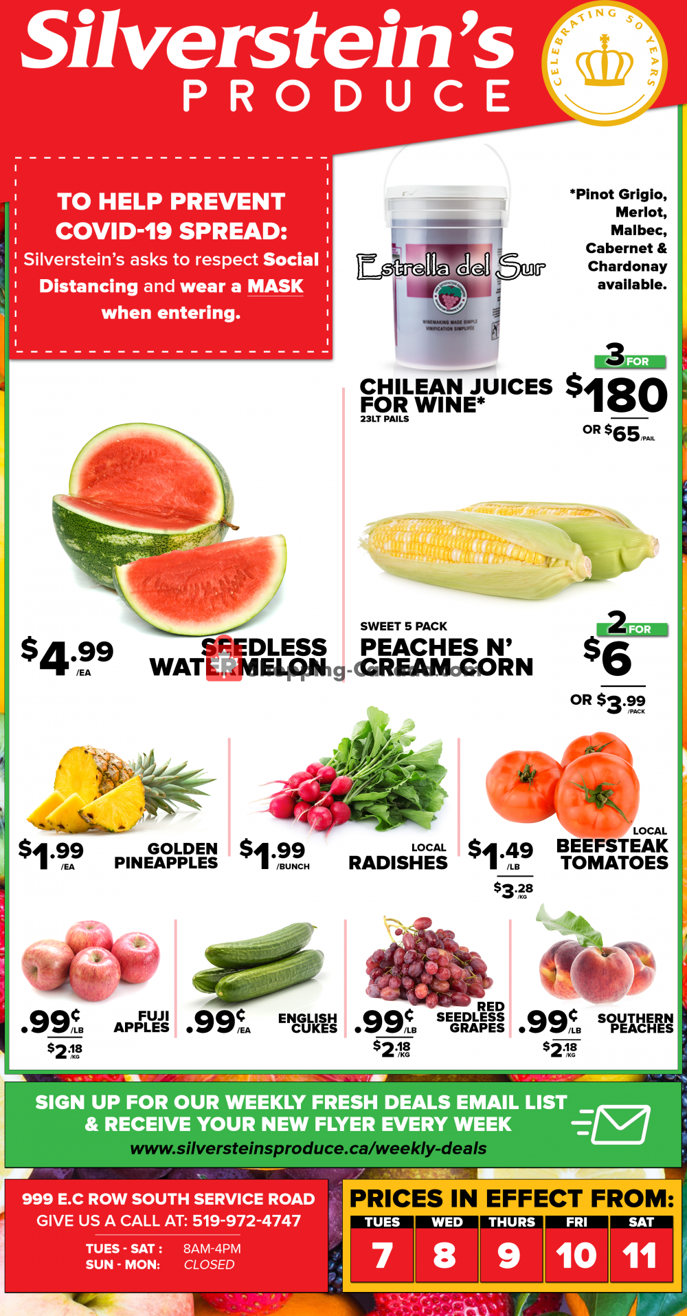Flyer Silverstein's Produce Canada - from Tuesday July 7, 2020 to Saturday July 11, 2020