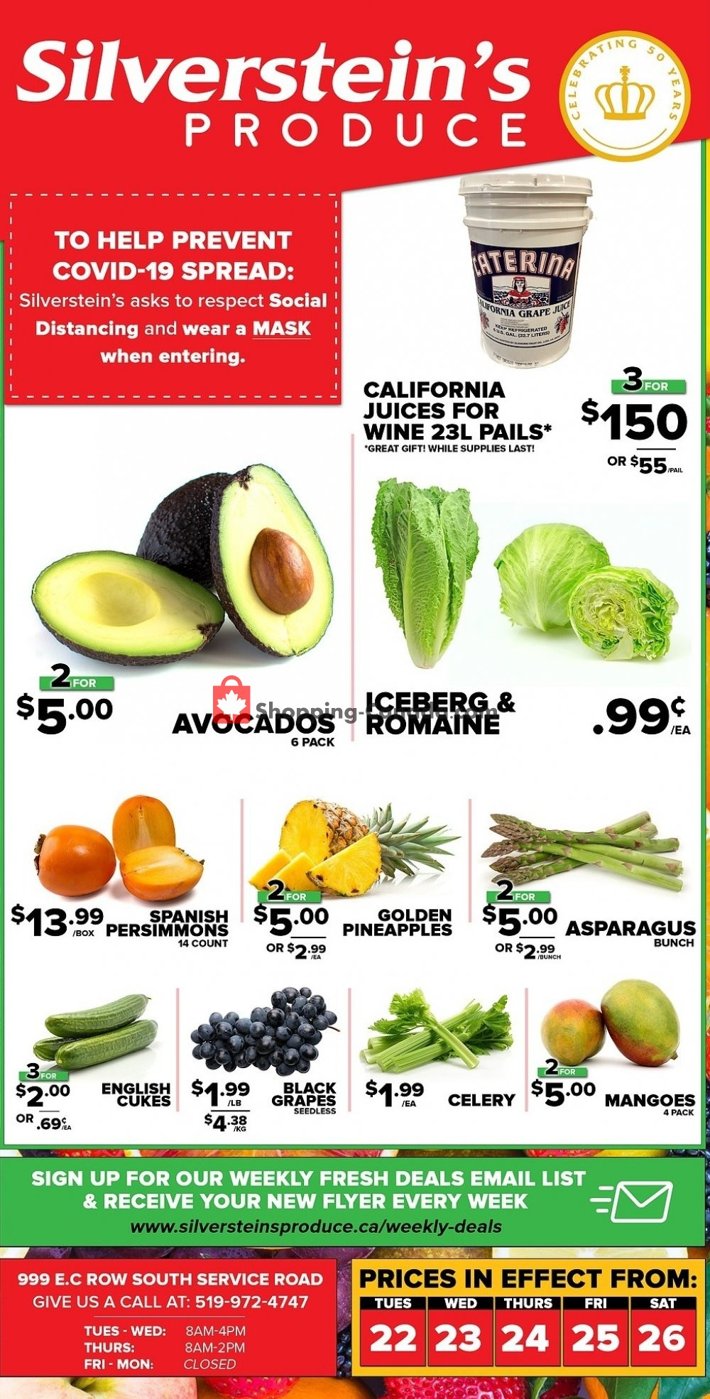 Flyer Silverstein's Produce Canada - from Tuesday December 22, 2020 to Saturday December 26, 2020