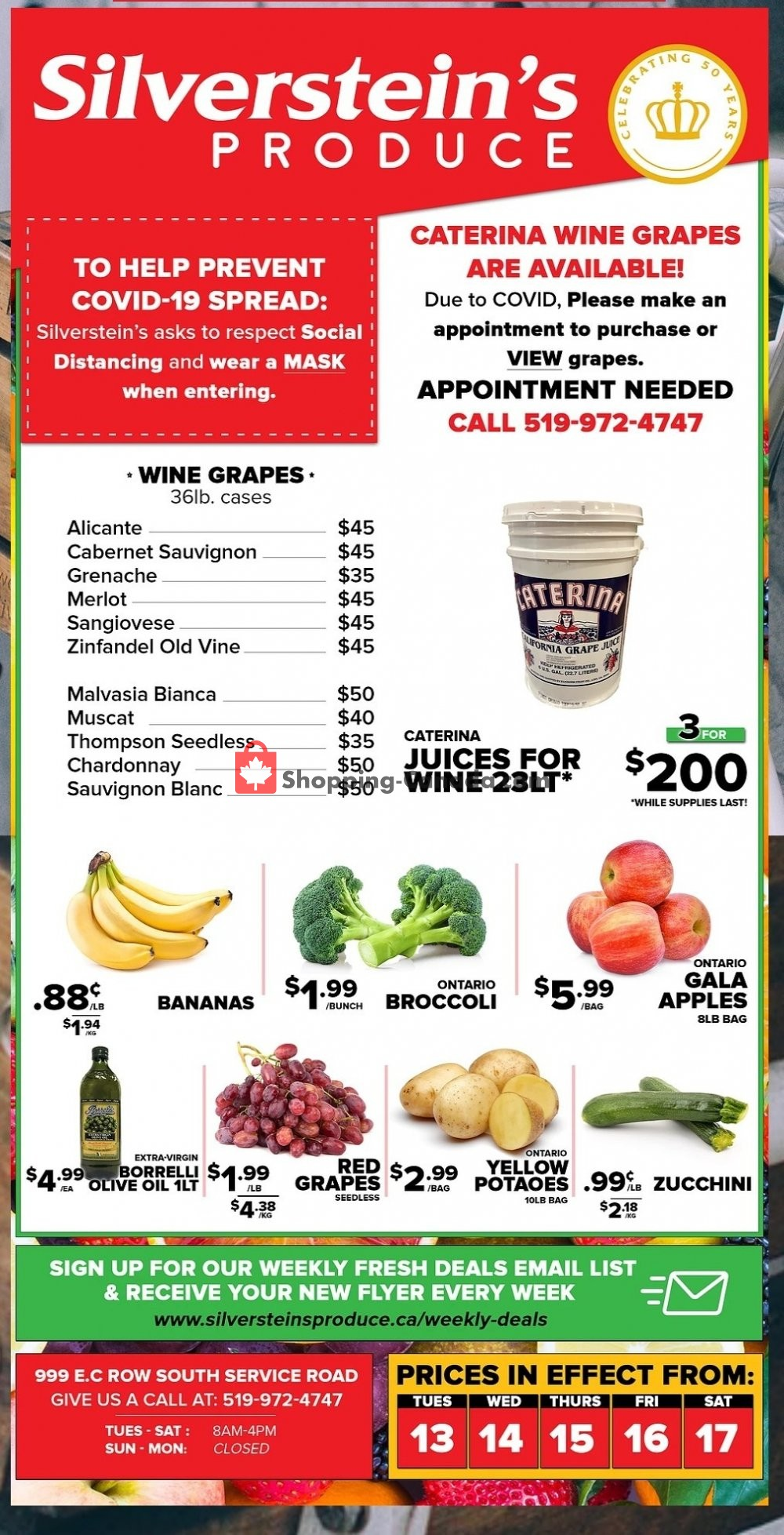 Flyer Silverstein's Produce Canada - from Tuesday October 13, 2020 to Monday October 19, 2020