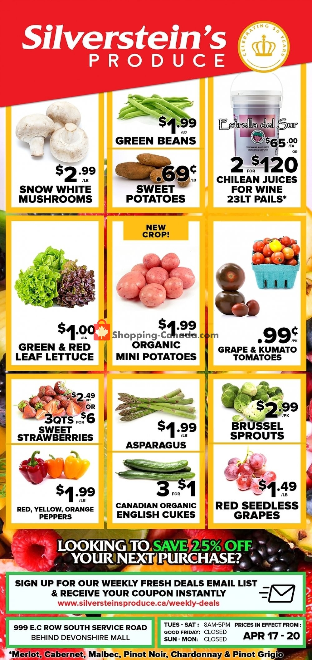 Flyer Silverstein's Produce Canada - from Wednesday April 17, 2019 to Saturday April 20, 2019