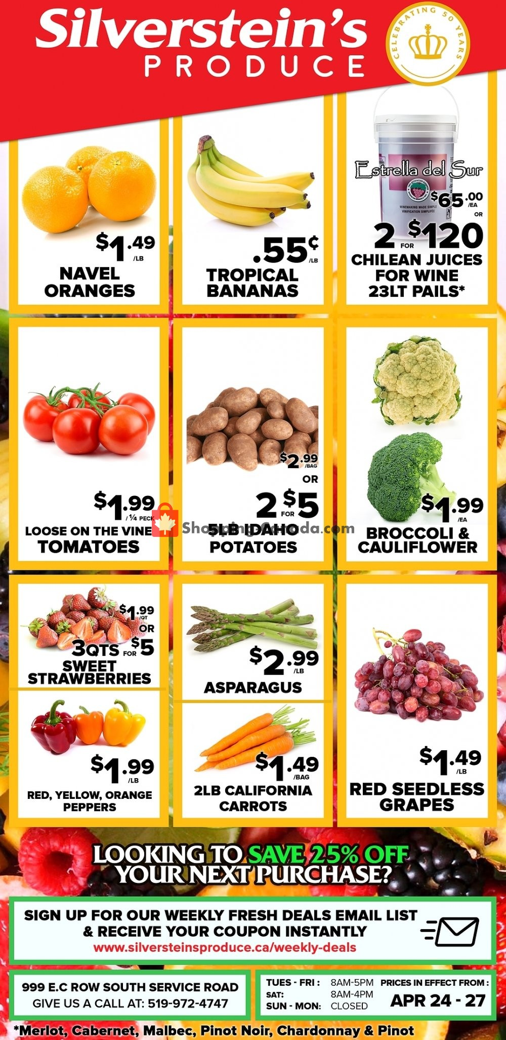 Flyer Silverstein's Produce Canada - from Wednesday April 24, 2019 to Saturday April 27, 2019