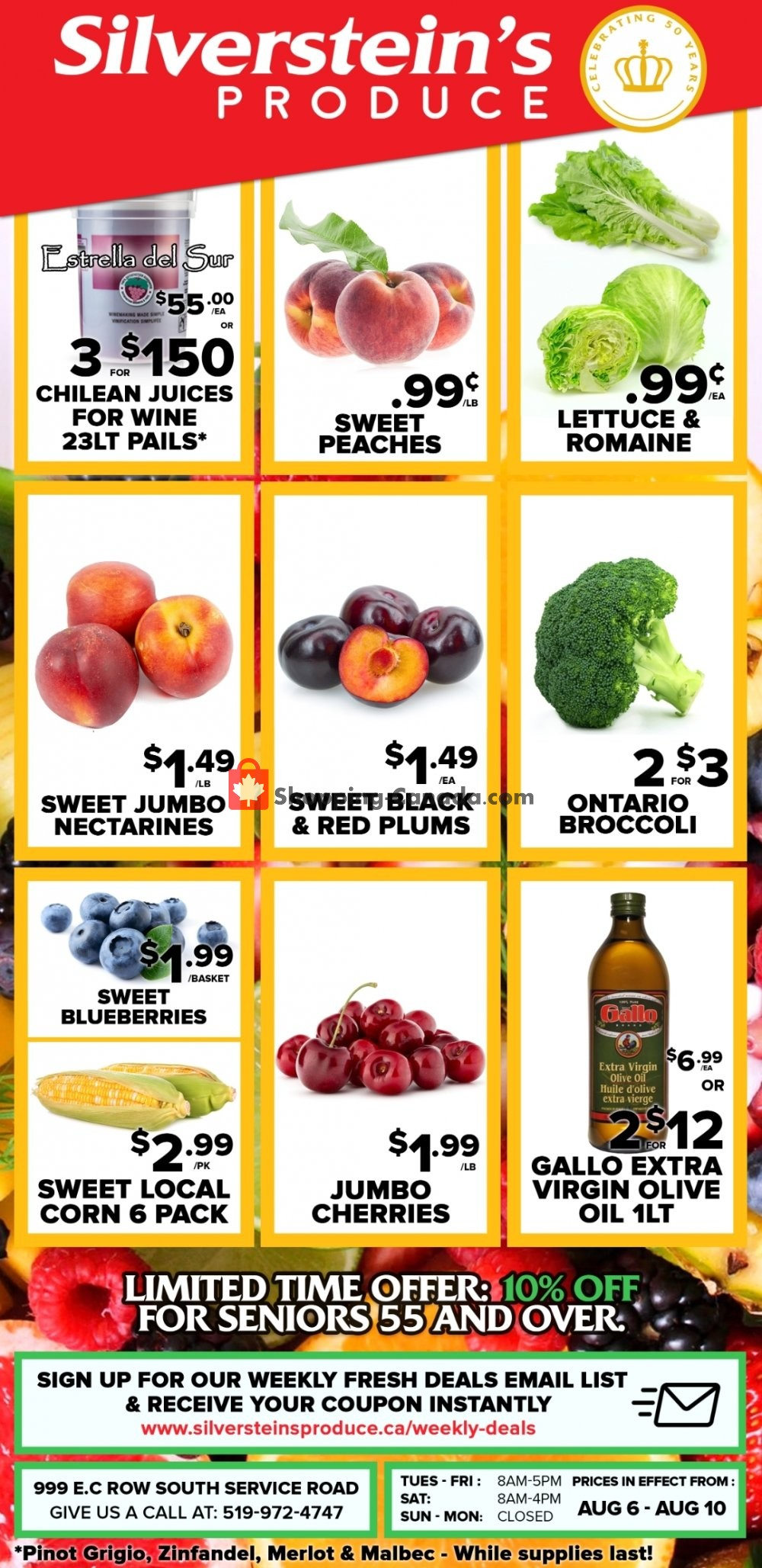 Flyer Silverstein's Produce Canada - from Tuesday August 6, 2019 to Saturday August 10, 2019