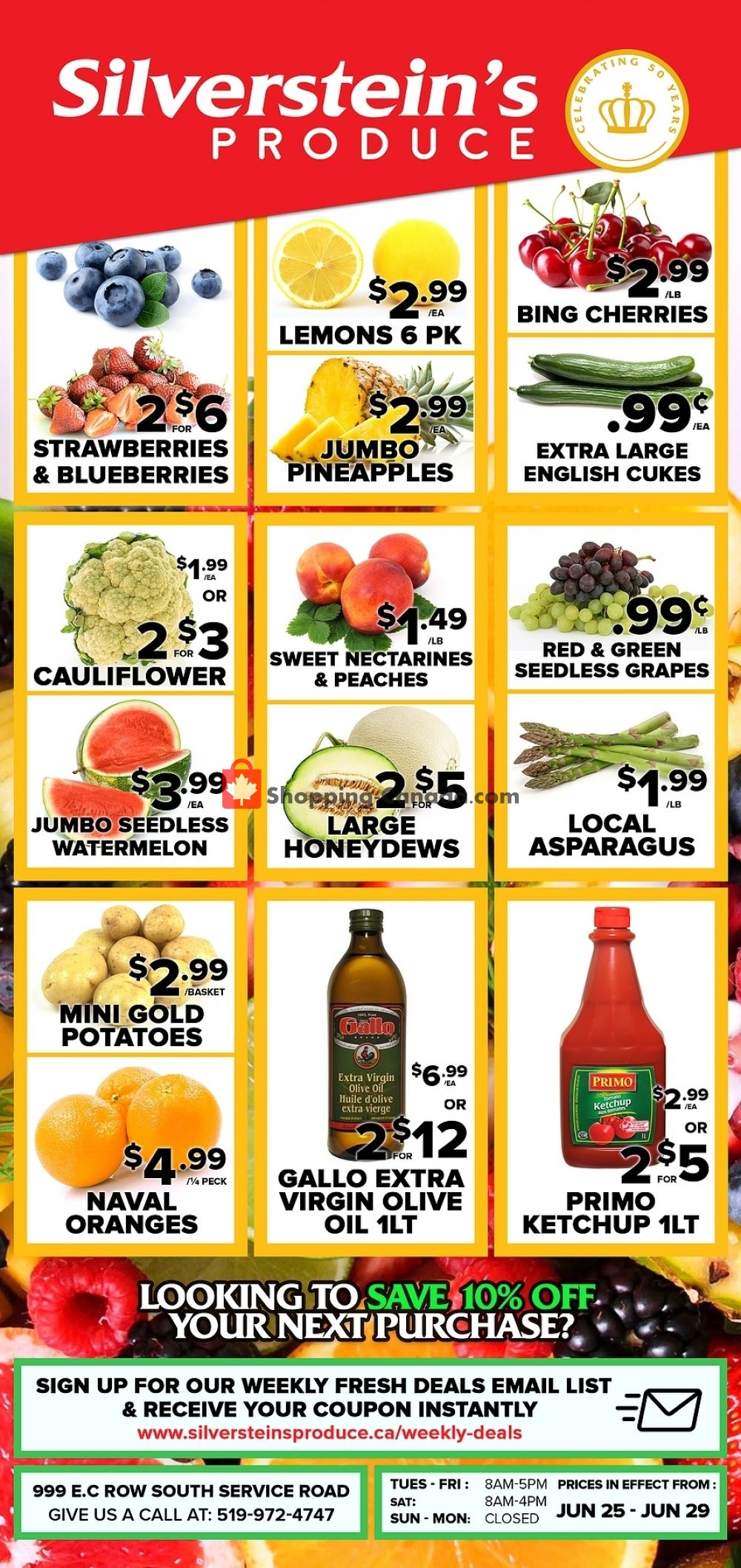Flyer Silverstein's Produce Canada - from Tuesday June 25, 2019 to Saturday June 29, 2019