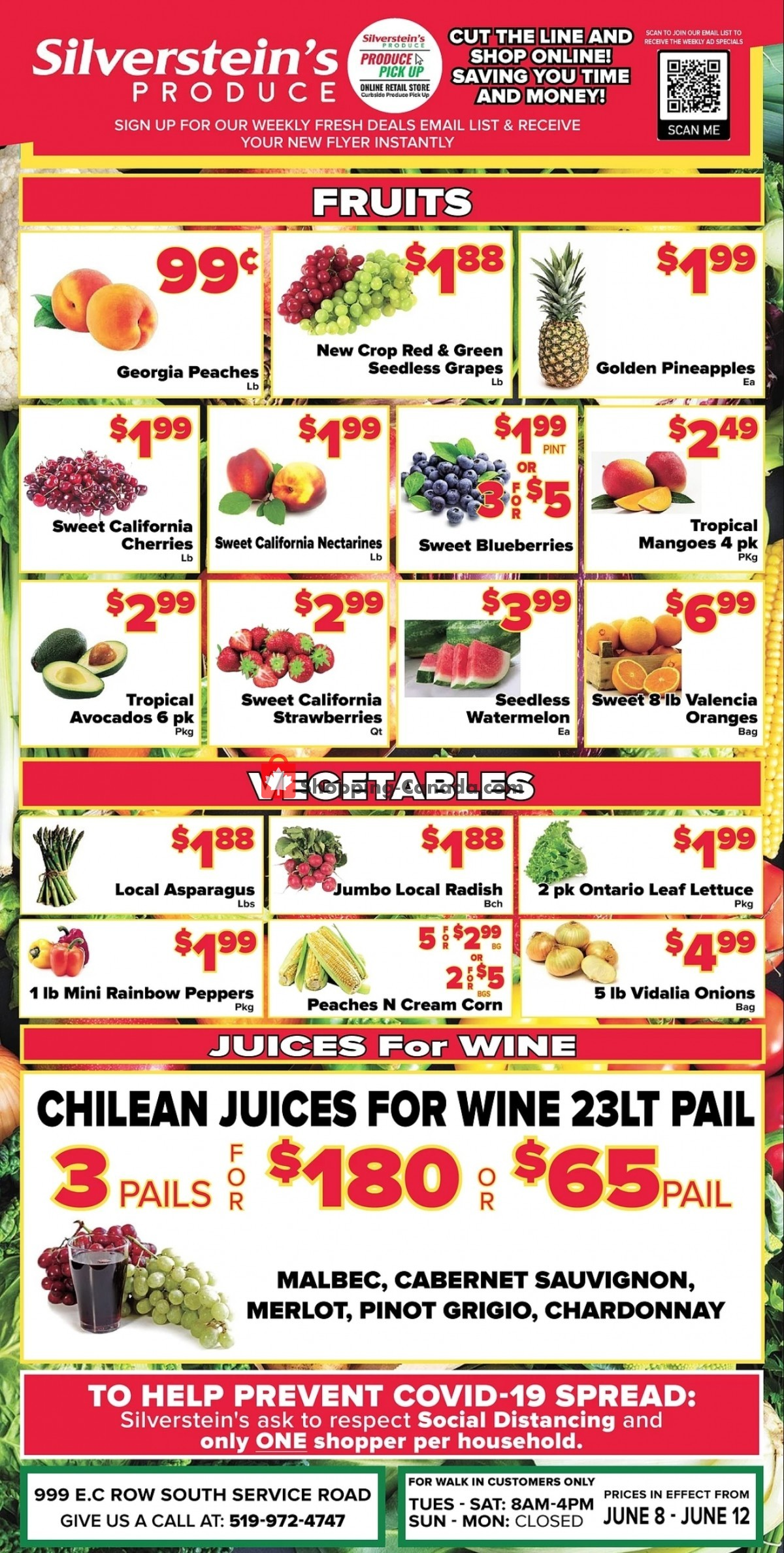 Flyer Silverstein's Produce Canada - from Tuesday June 8, 2021 to Saturday June 12, 2021