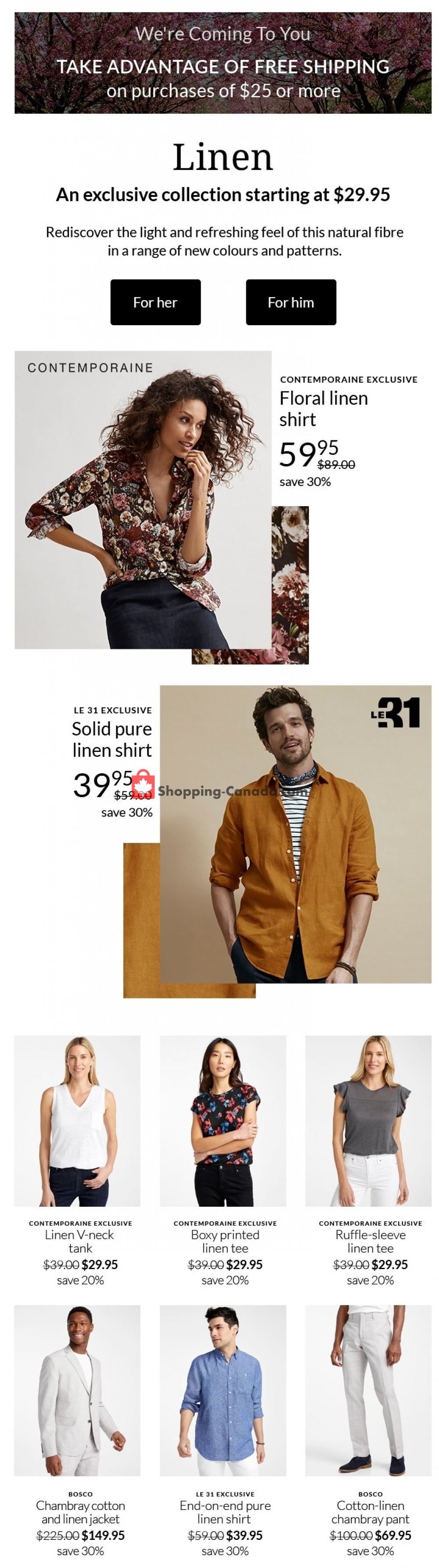 Flyer Simons Canada - from Monday April 27, 2020 to Monday April 27, 2020