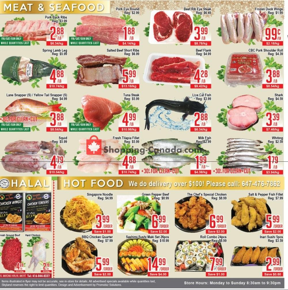 Flyer Skyland Food Mart Canada - from Friday January 10, 2020 to Thursday January 16, 2020
