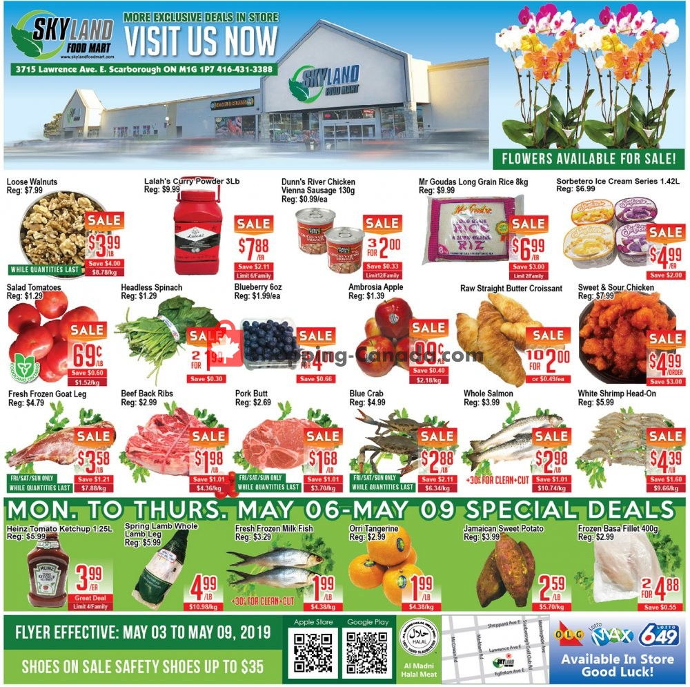 Flyer Skyland Food Mart Canada - from Friday May 3, 2019 to Thursday May 9, 2019