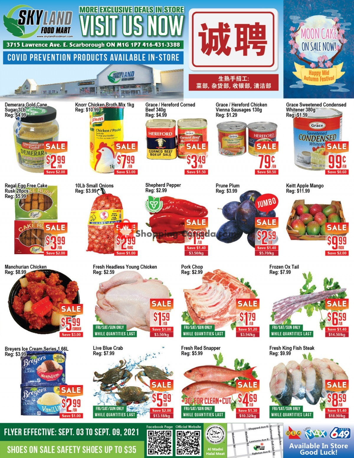 Flyer Skyland Food Mart Canada - from Friday September 3, 2021 to Thursday September 9, 2021