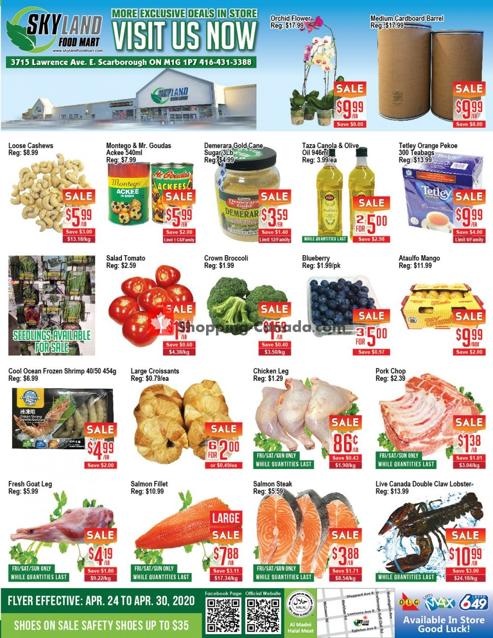 Flyer Skyland Food Mart Canada - from Friday April 24, 2020 to Thursday April 30, 2020