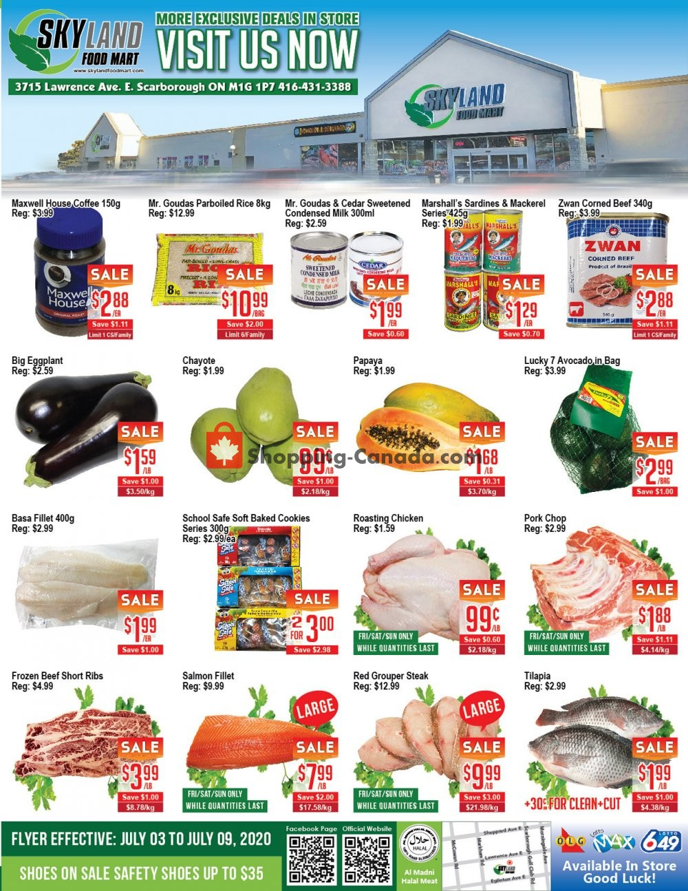 Flyer Skyland Food Mart Canada - from Friday July 3, 2020 to Thursday July 9, 2020