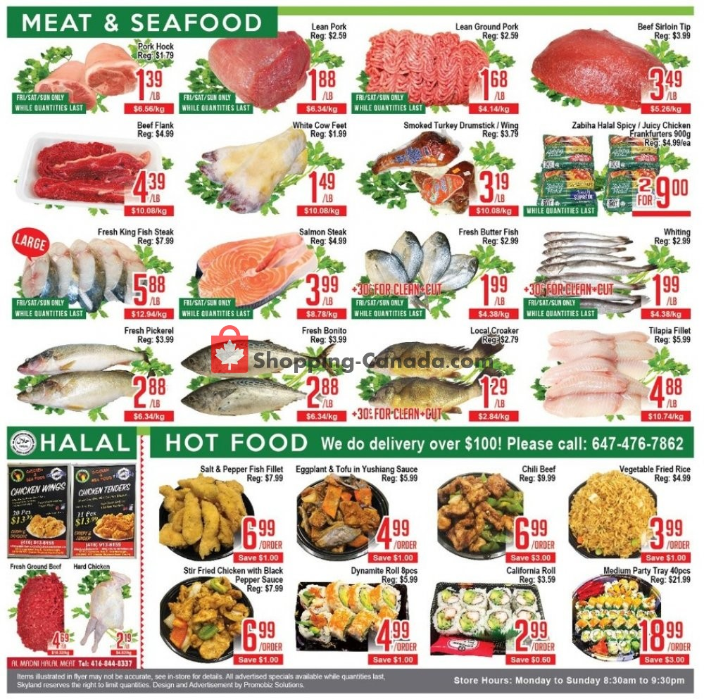 Flyer Skyland Food Mart Canada - from Friday November 8, 2019 to Thursday November 14, 2019