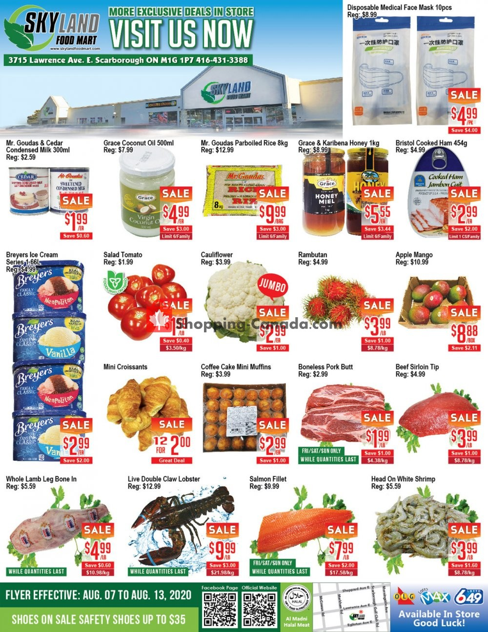 Flyer Skyland Food Mart Canada - from Friday August 7, 2020 to Thursday August 13, 2020