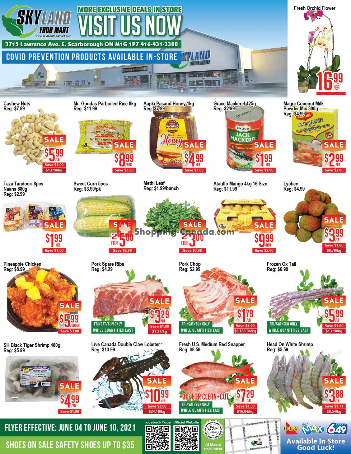 Flyer Skyland Food Mart Canada - from Friday June 4, 2021 to Thursday June 10, 2021