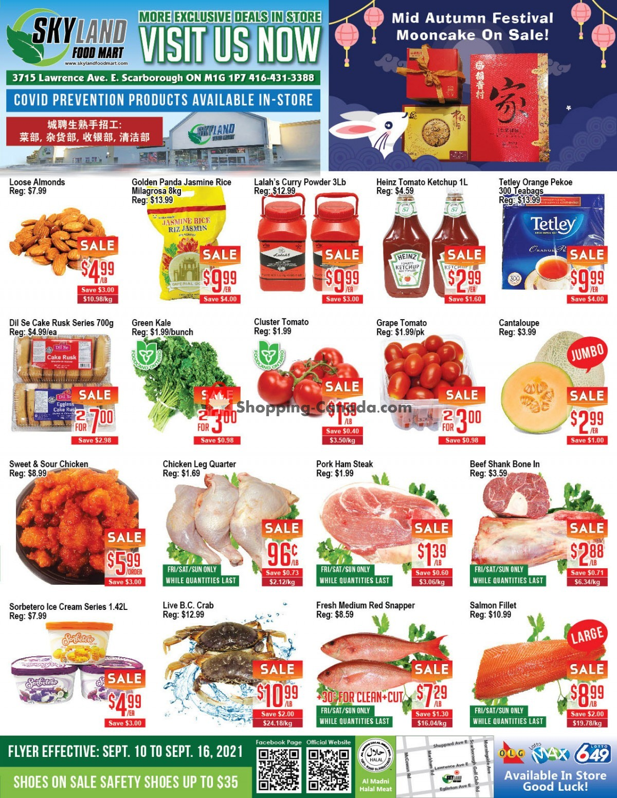 Flyer Skyland Food Mart Canada - from Friday September 10, 2021 to Thursday September 16, 2021