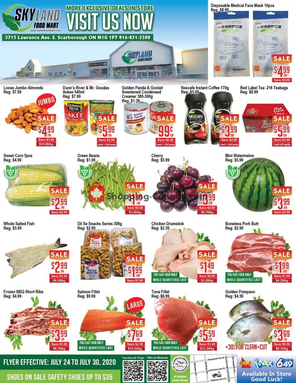 Flyer Skyland Food Mart Canada - from Friday July 24, 2020 to Thursday July 30, 2020