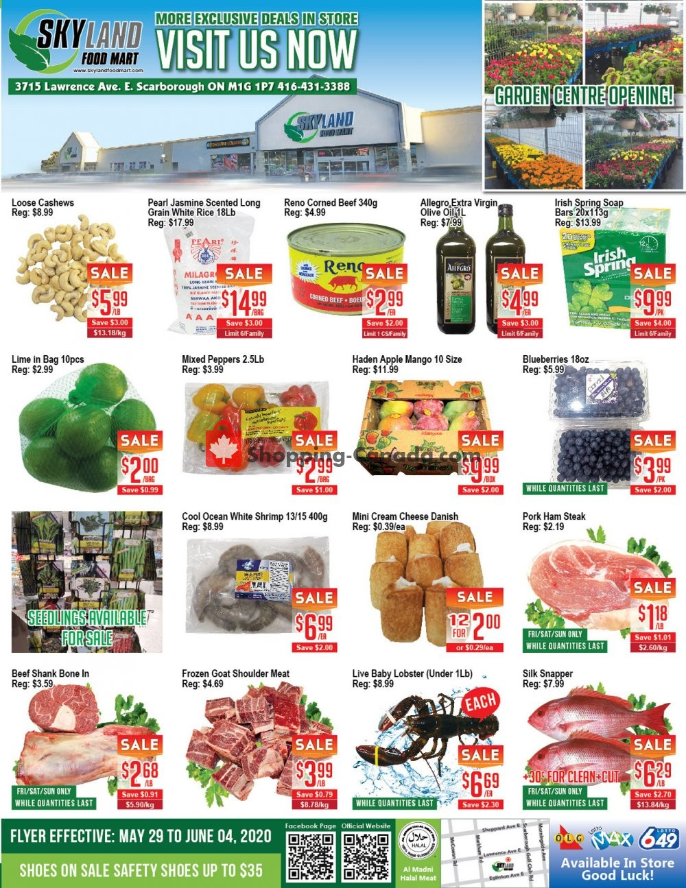 Flyer Skyland Food Mart Canada - from Friday May 29, 2020 to Thursday June 4, 2020