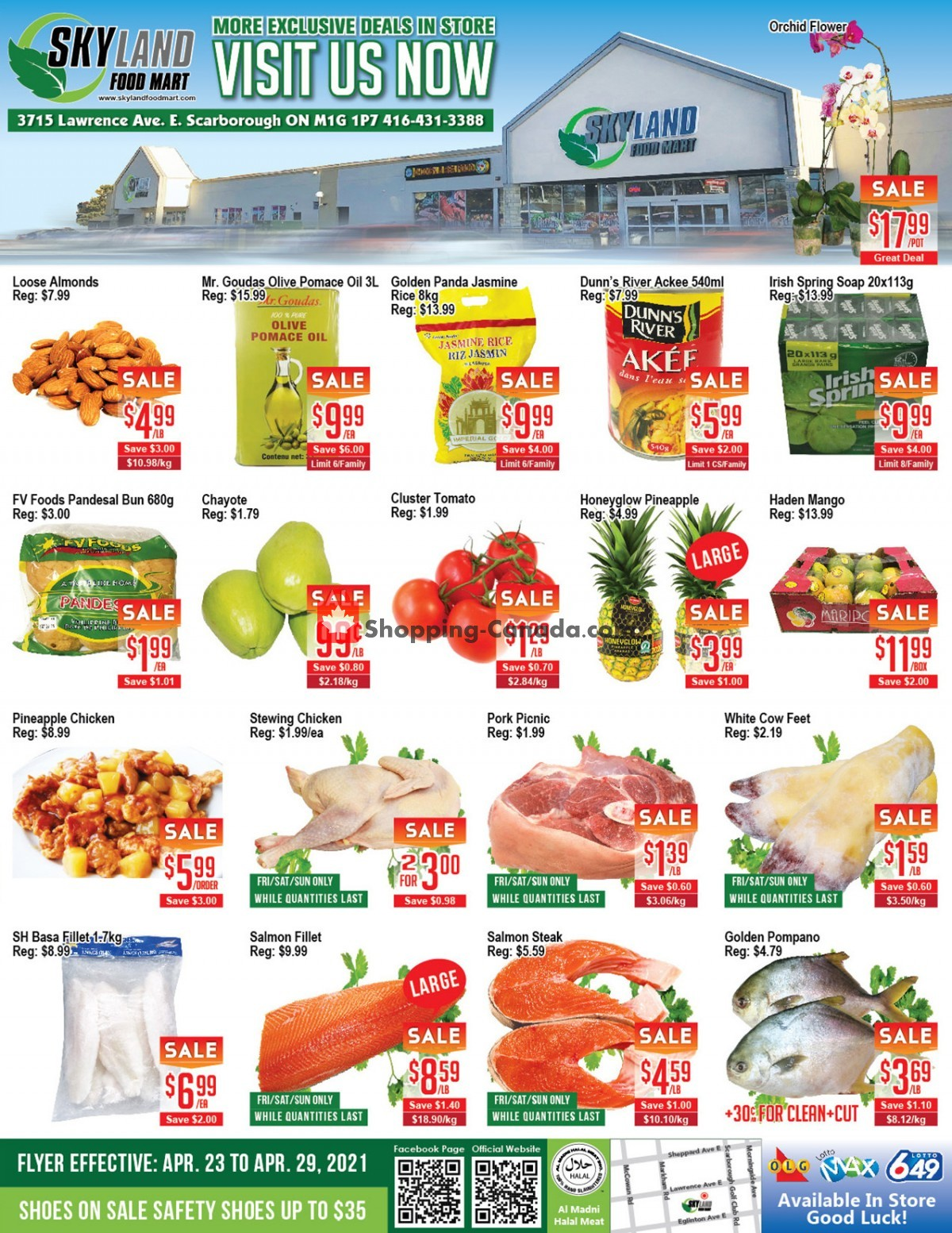 Flyer Skyland Food Mart Canada - from Friday April 23, 2021 to Thursday April 29, 2021