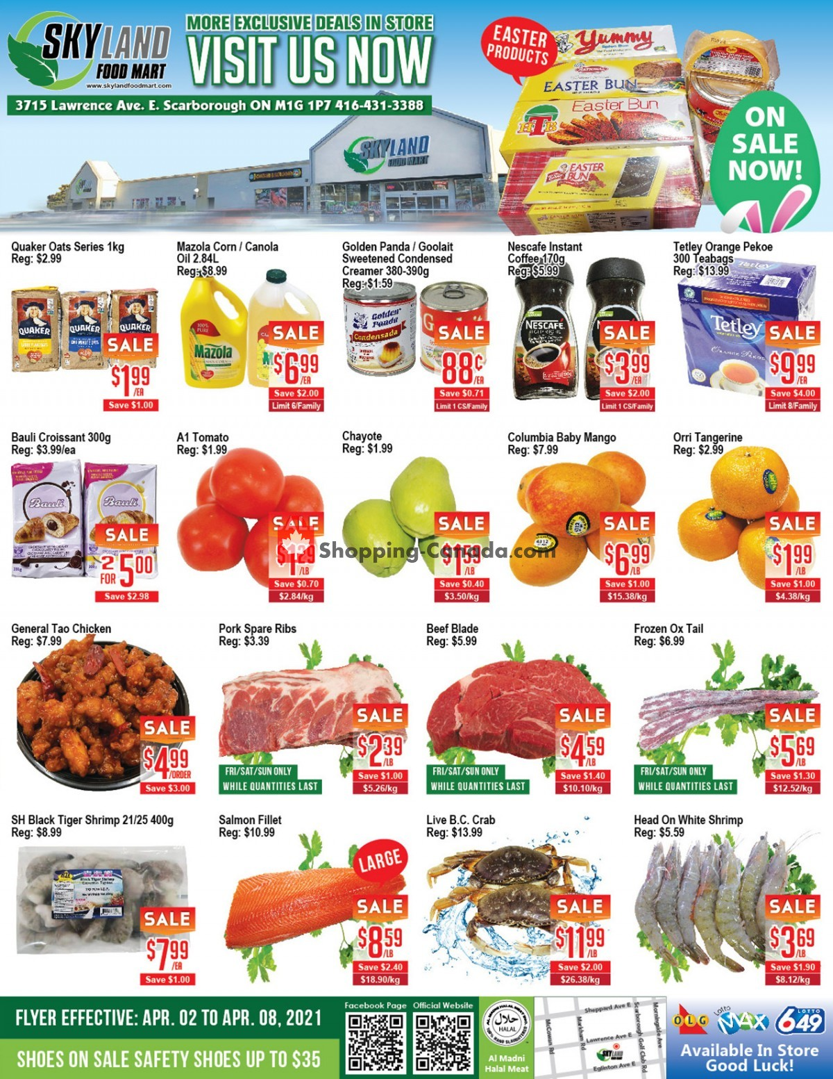 Flyer Skyland Food Mart Canada - from Friday April 2, 2021 to Thursday April 8, 2021