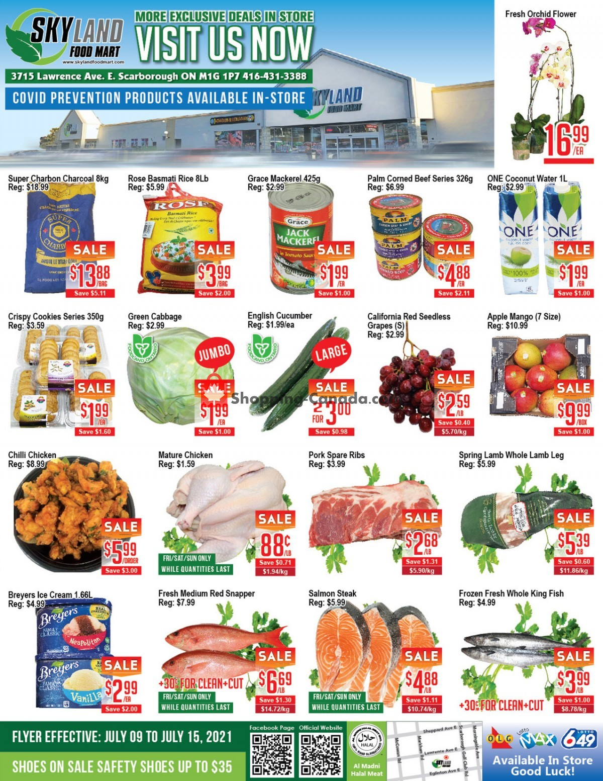 Flyer Skyland Food Mart Canada - from Friday July 9, 2021 to Thursday July 15, 2021