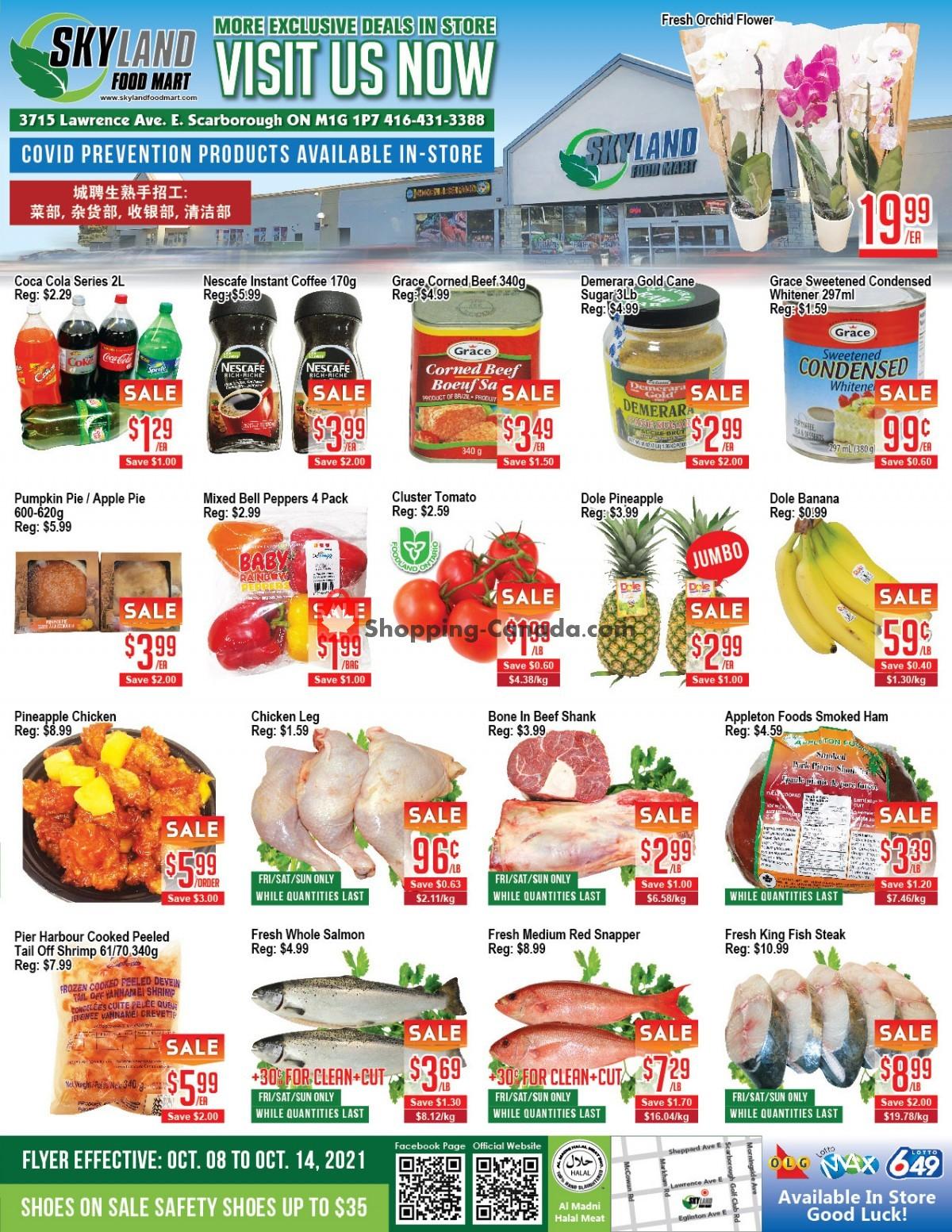 Flyer Skyland Food Mart Canada - from Friday October 8, 2021 to Thursday October 14, 2021