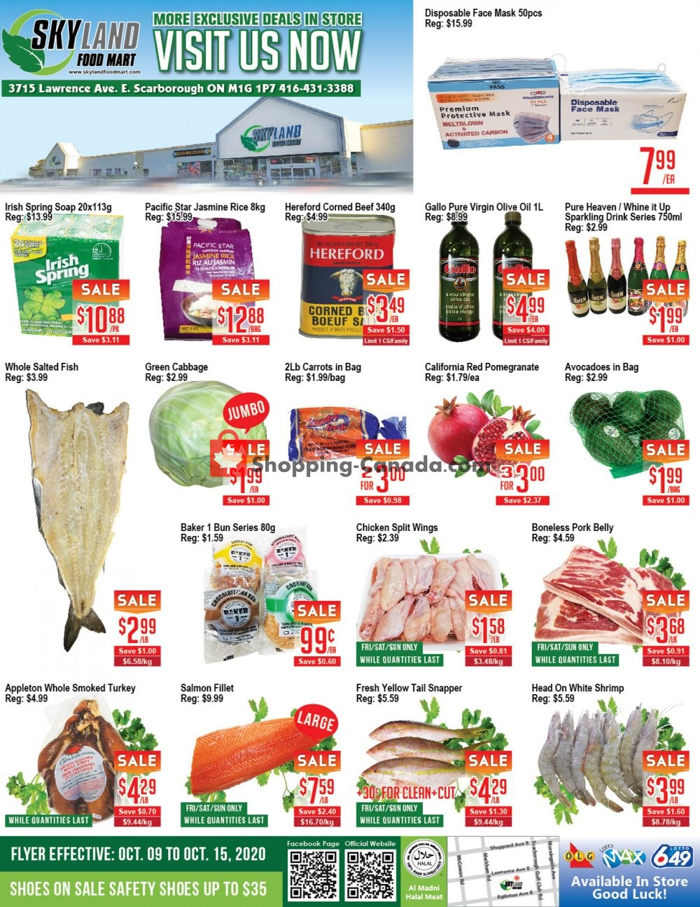 Flyer Skyland Food Mart Canada - from Friday October 9, 2020 to Thursday October 15, 2020