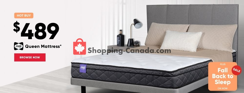 Flyer Sleep Country Canada - from Wednesday October 10, 2018 to Tuesday October 23, 2018