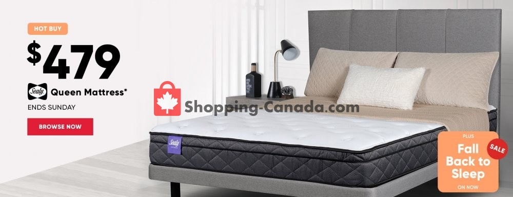 Flyer Sleep Country Canada - from Thursday October 4, 2018 to Sunday October 7, 2018
