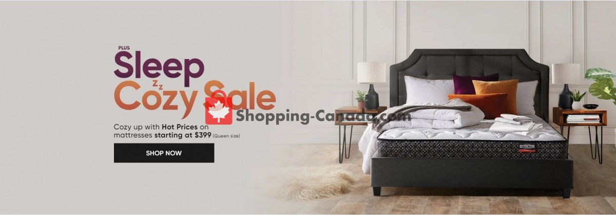 Flyer Sleep Country Canada - from Tuesday October 5, 2021 to Monday October 25, 2021