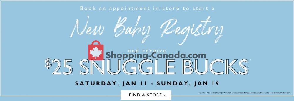Flyer Snuggle Bugz Canada - from Saturday January 11, 2020 to Sunday January 19, 2020