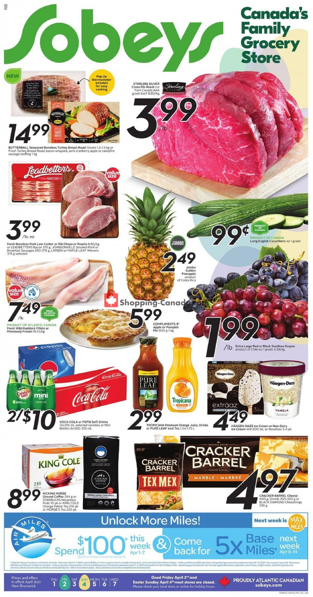 Flyer Sobeys Canada - from Thursday April 1, 2021 to Wednesday April 7, 2021