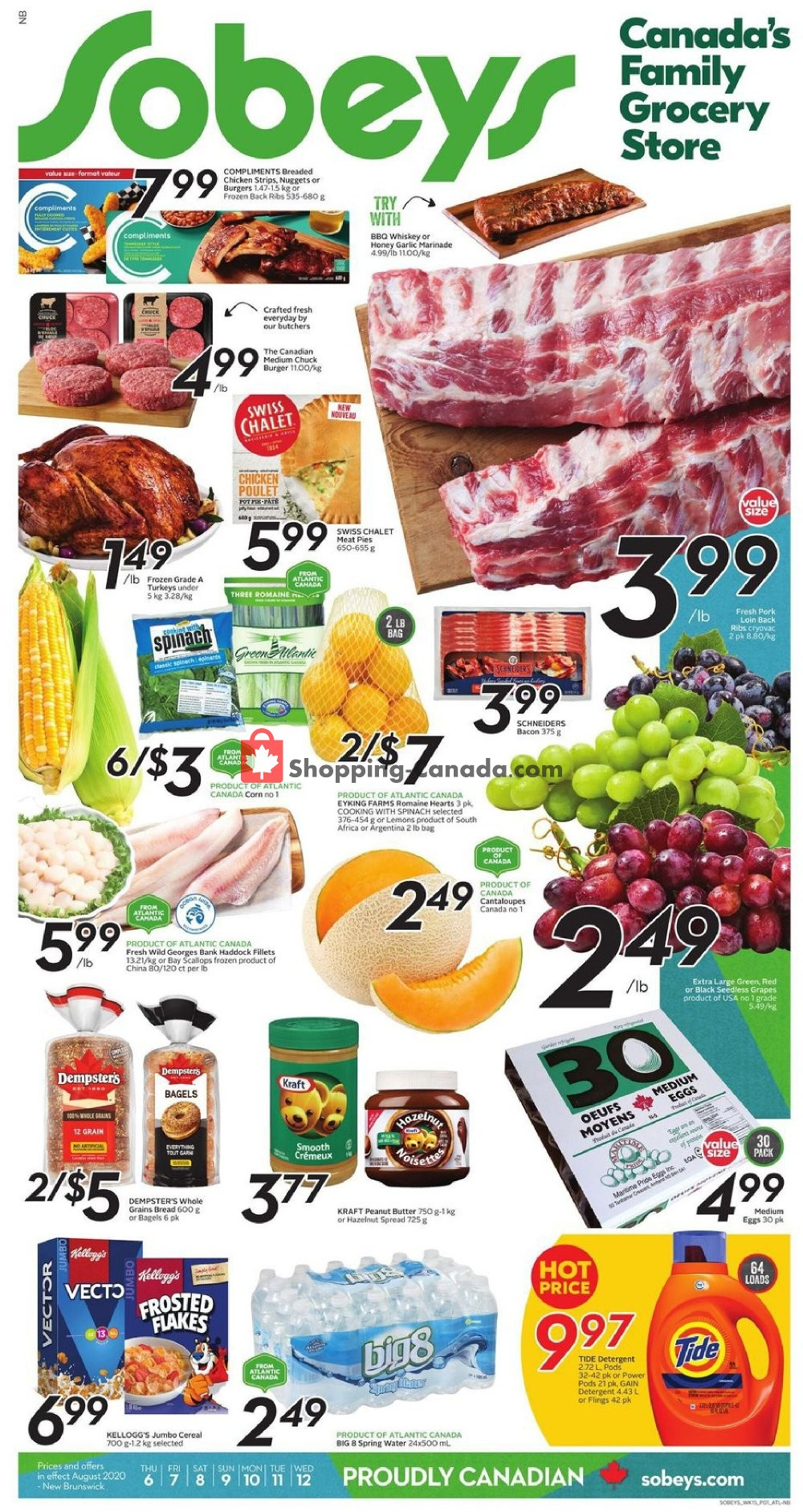 Flyer Sobeys Canada - from Thursday August 6, 2020 to Wednesday August 12, 2020