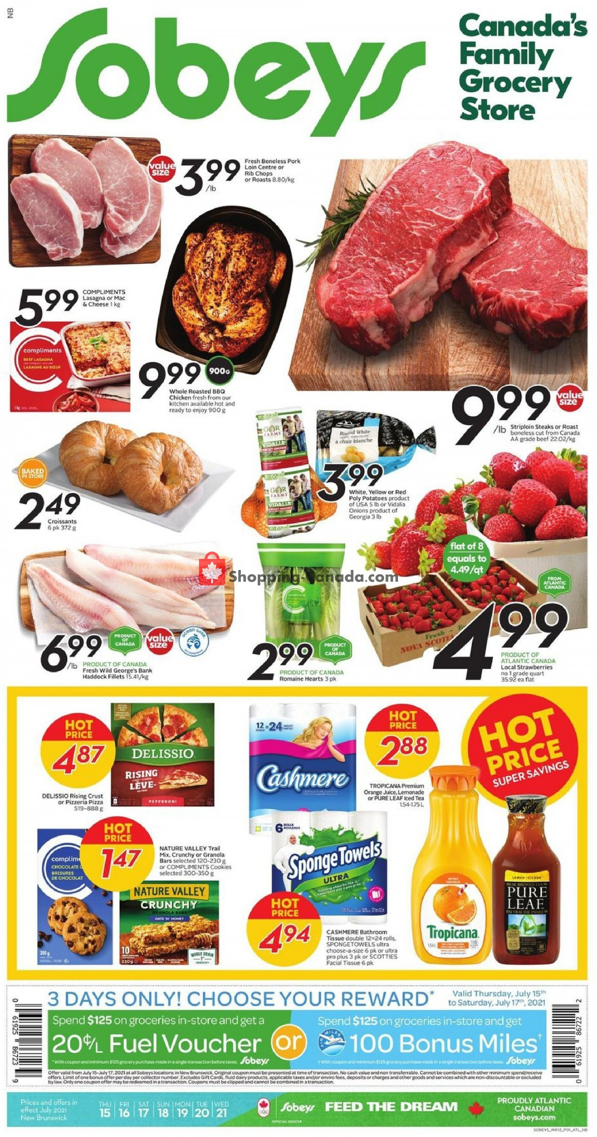 Flyer Sobeys Canada - from Thursday July 15, 2021 to Wednesday July 21, 2021