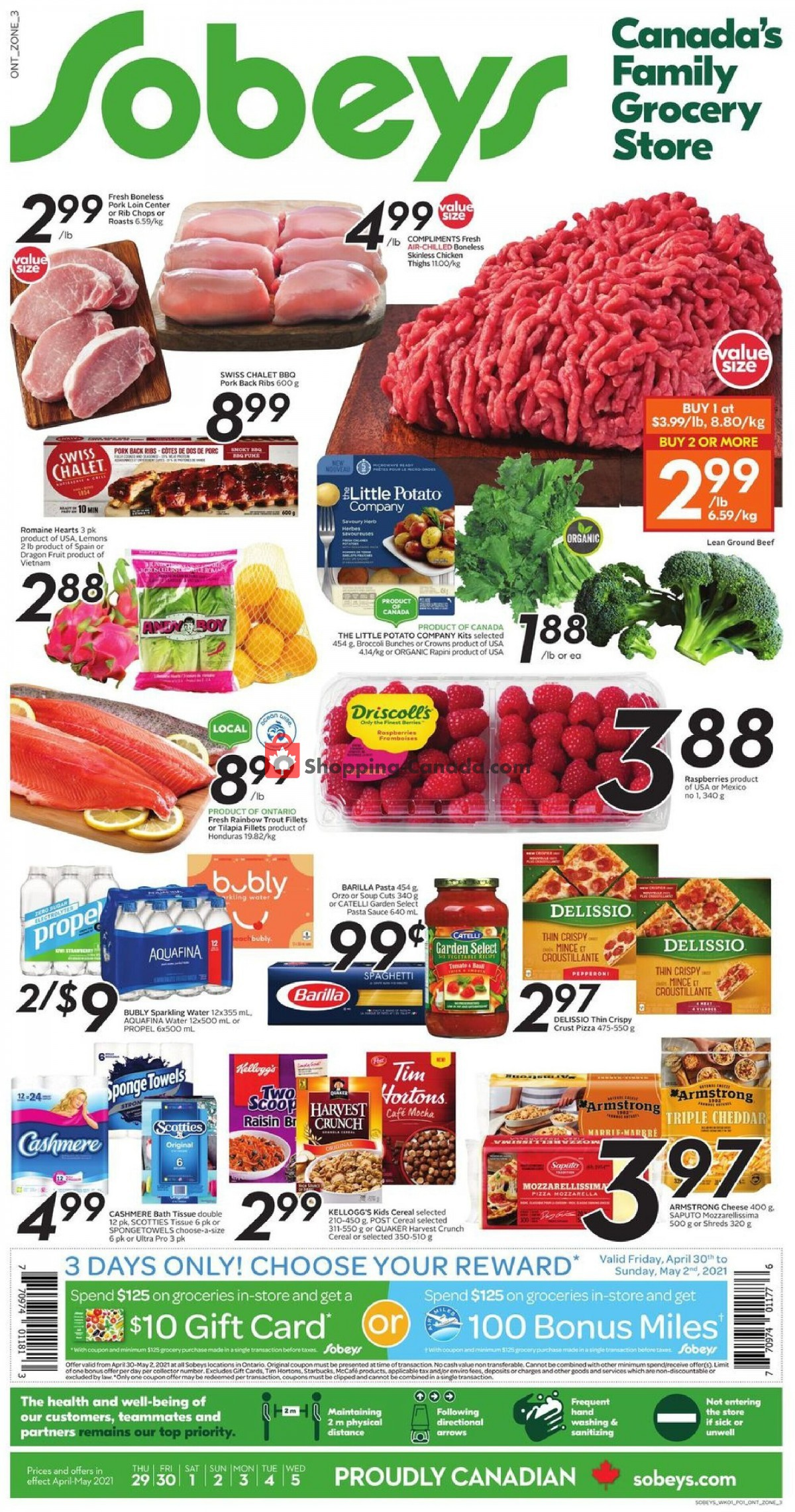 Flyer Sobeys Canada - from Thursday April 29, 2021 to Wednesday May 5, 2021