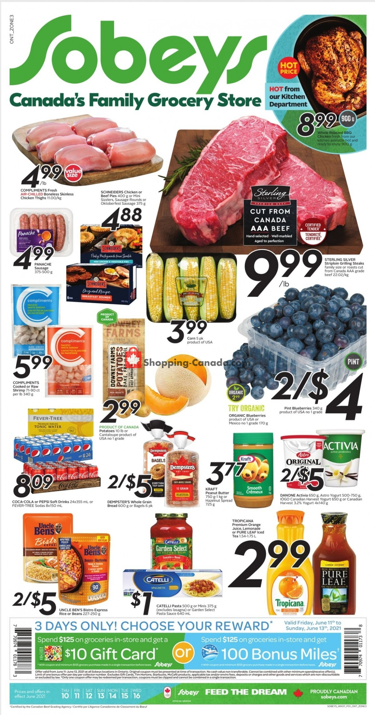 Flyer Sobeys Canada - from Thursday June 10, 2021 to Wednesday June 16, 2021