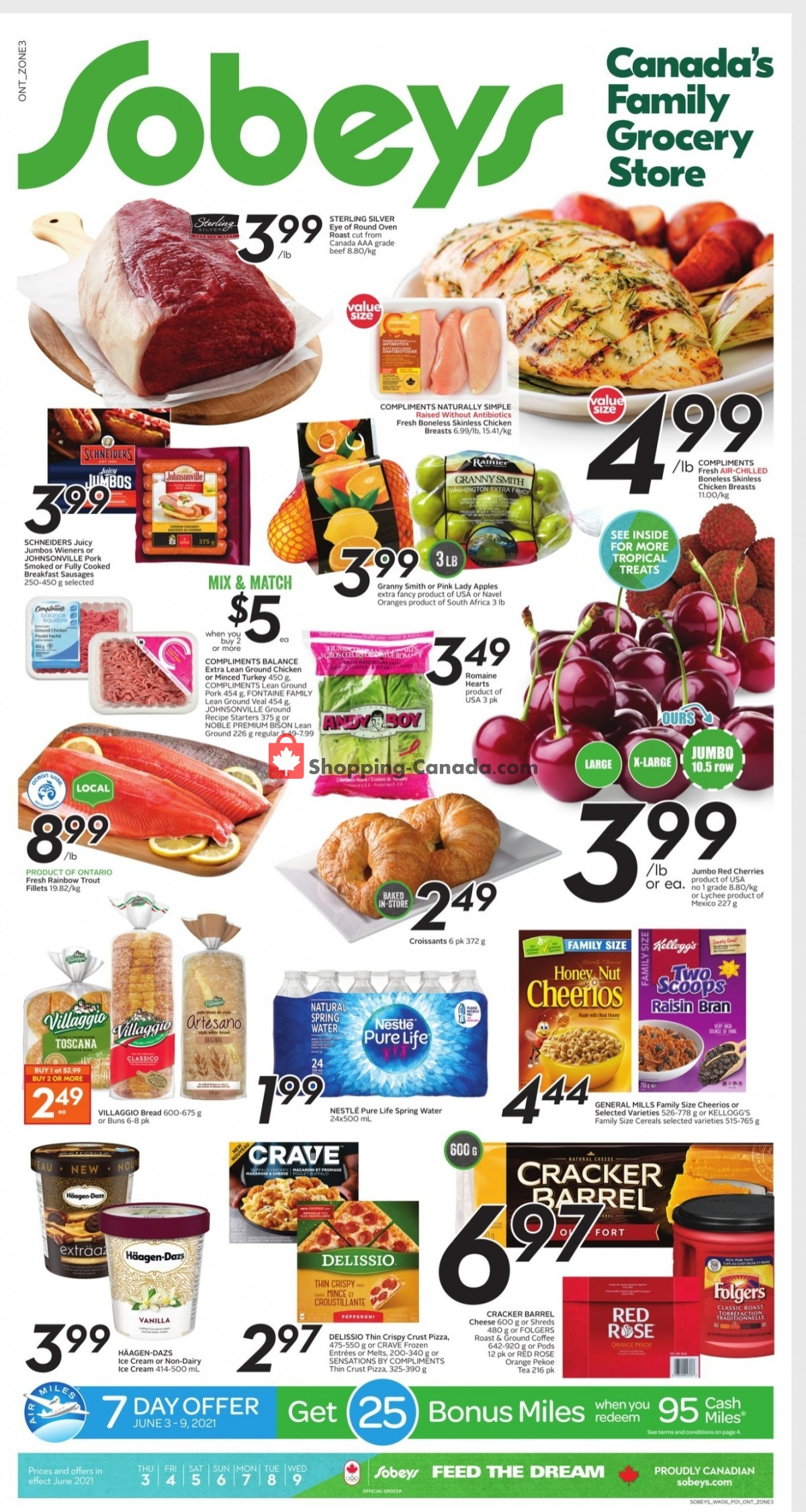 Flyer Sobeys Canada - from Thursday June 3, 2021 to Wednesday June 9, 2021
