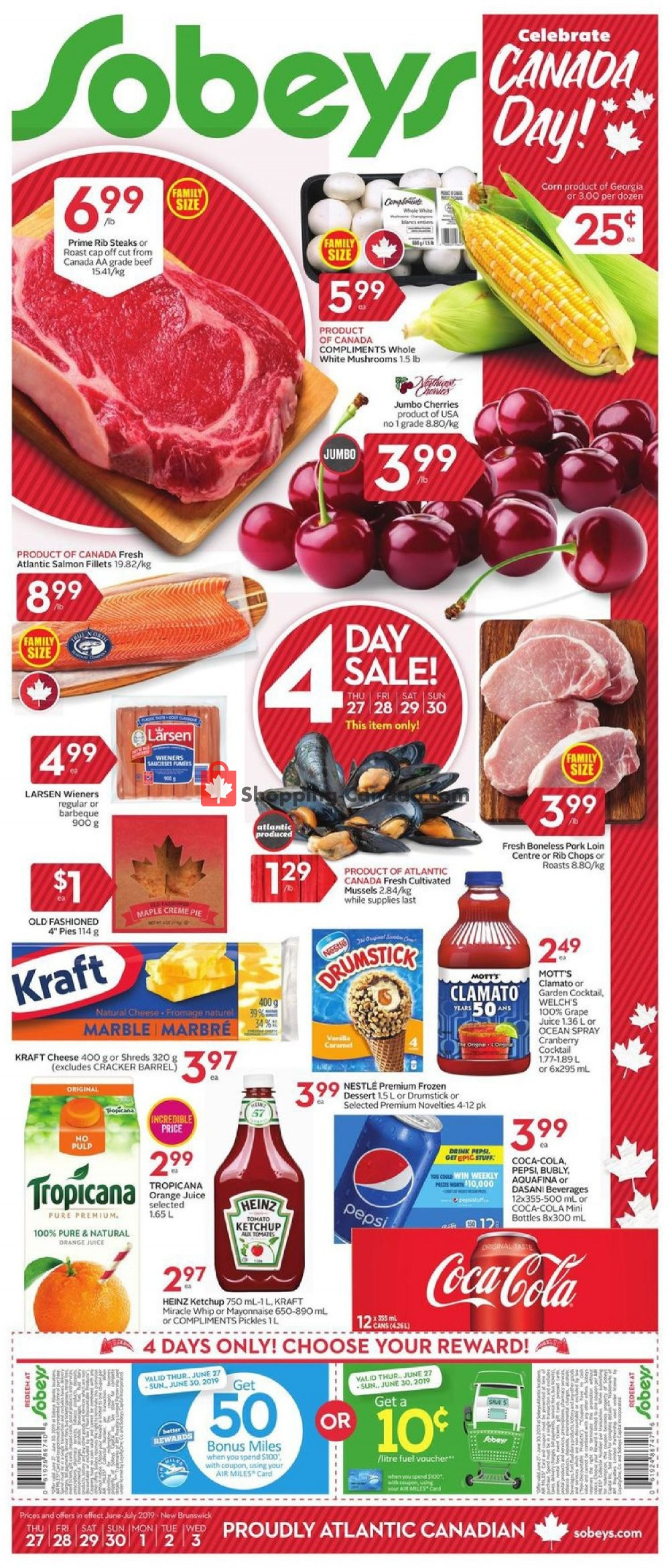 Flyer Sobeys Canada - from Thursday June 27, 2019 to Wednesday July 3, 2019