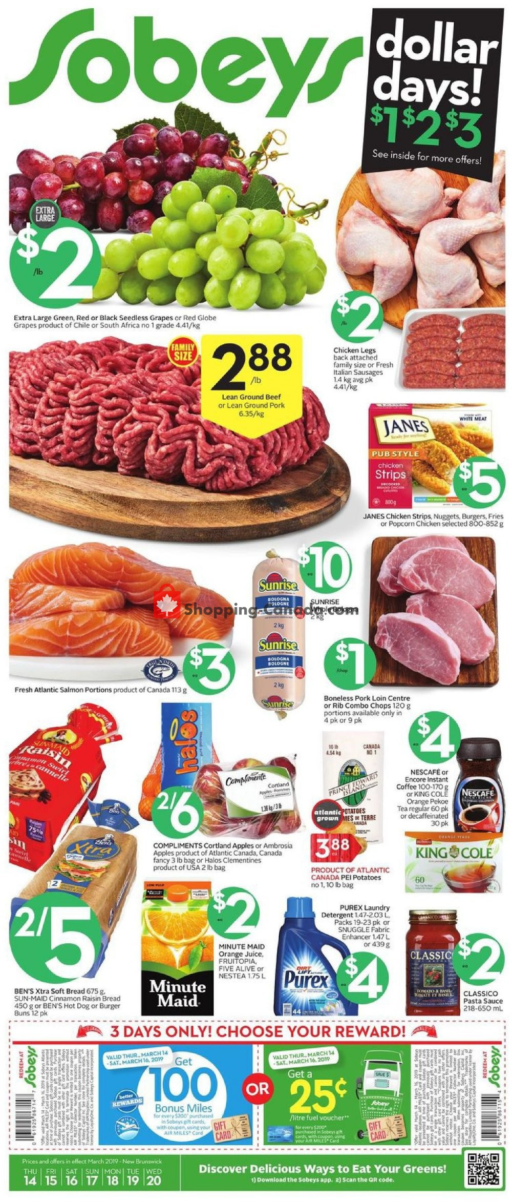 Flyer Sobeys Canada - from Thursday March 14, 2019 to Wednesday March 20, 2019