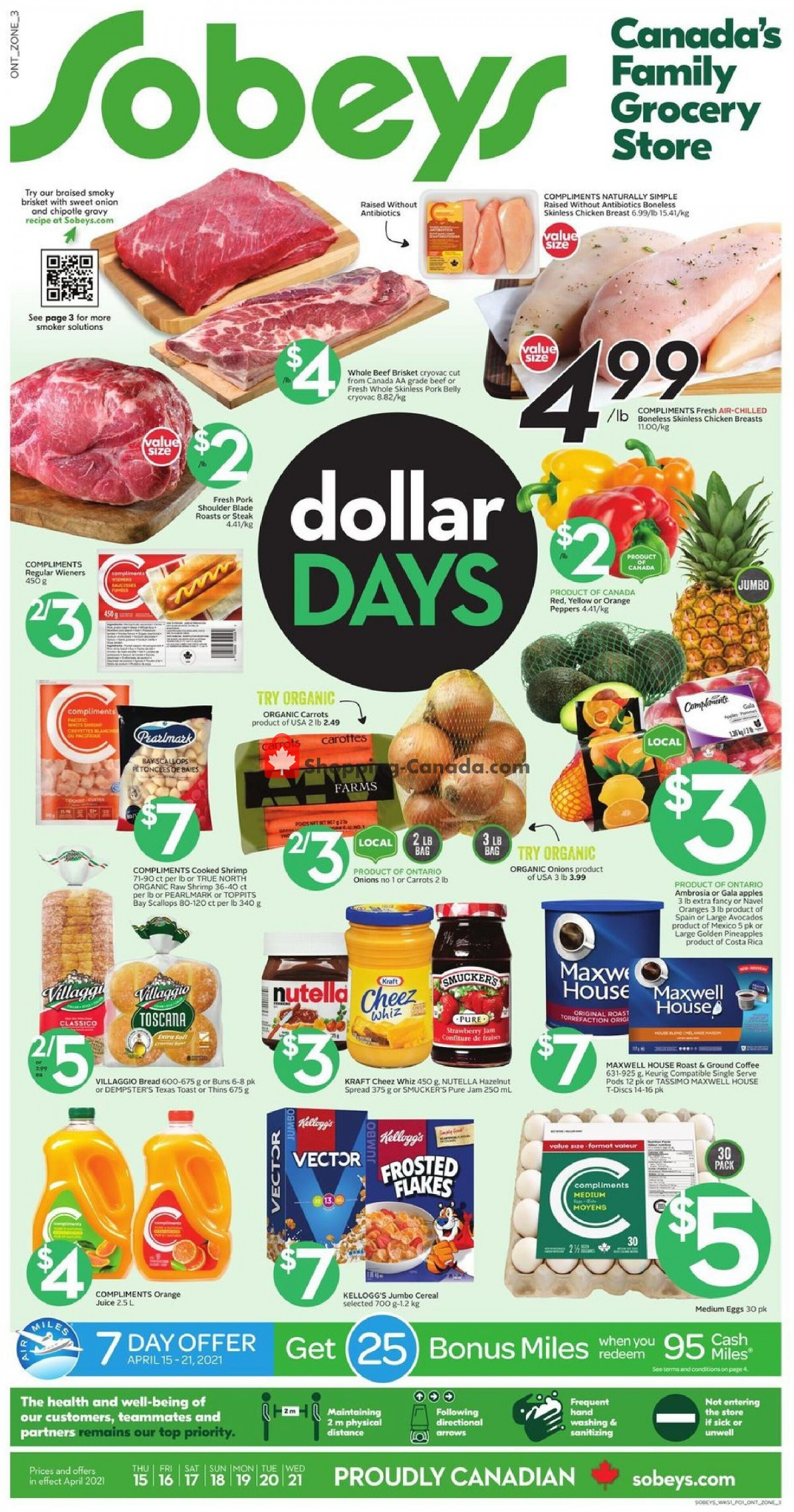Flyer Sobeys Canada - from Thursday April 15, 2021 to Wednesday April 21, 2021