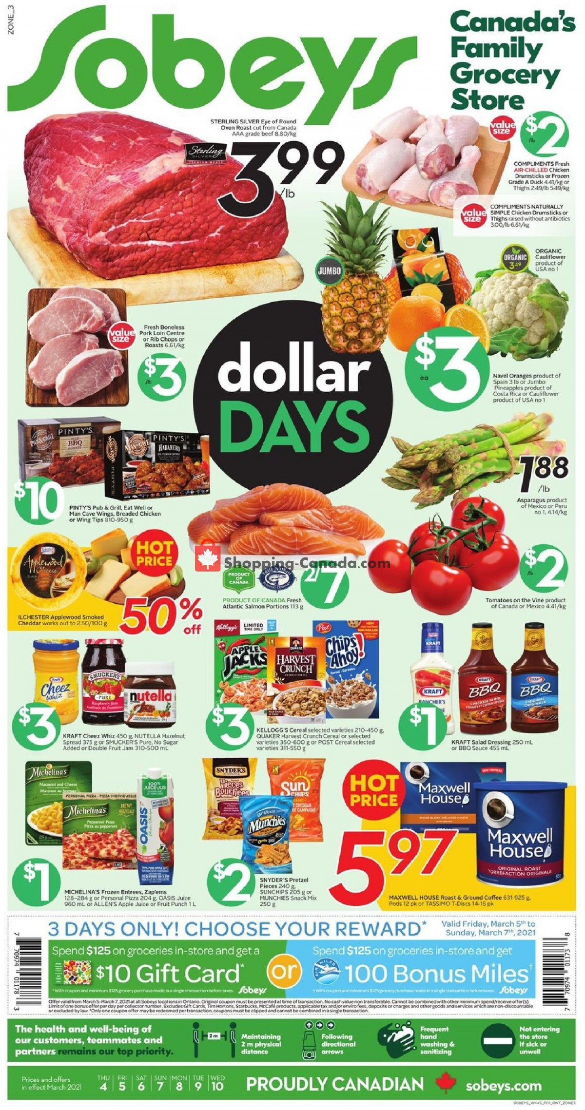 Flyer Sobeys Canada - from Thursday March 4, 2021 to Wednesday March 10, 2021