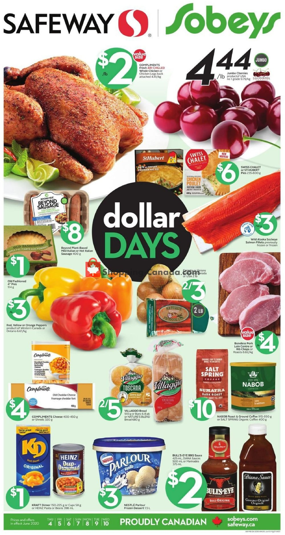 Flyer Sobeys Canada - from Thursday June 4, 2020 to Wednesday June 10, 2020