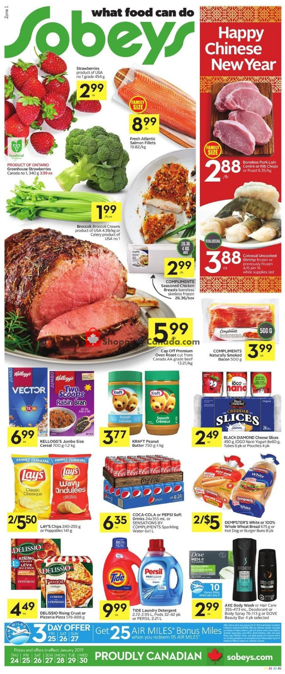Flyer Sobeys Canada - from Thursday January 24, 2019 to Wednesday January 30, 2019