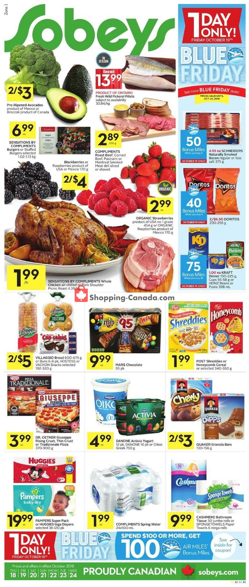 Flyer Sobeys Canada - from Thursday October 18, 2018 to Wednesday October 24, 2018