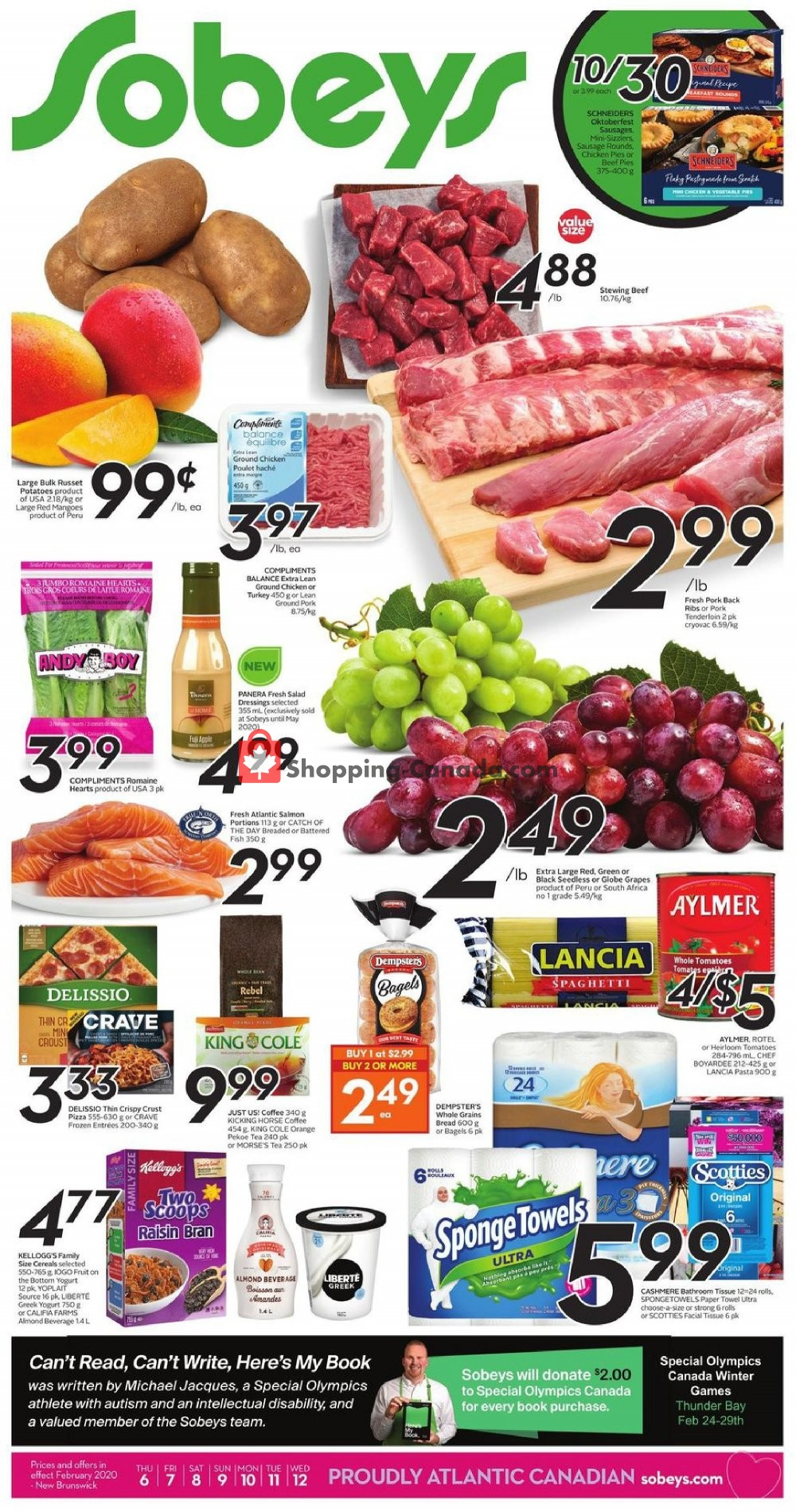 Flyer Sobeys Canada - from Thursday February 6, 2020 to Wednesday February 12, 2020