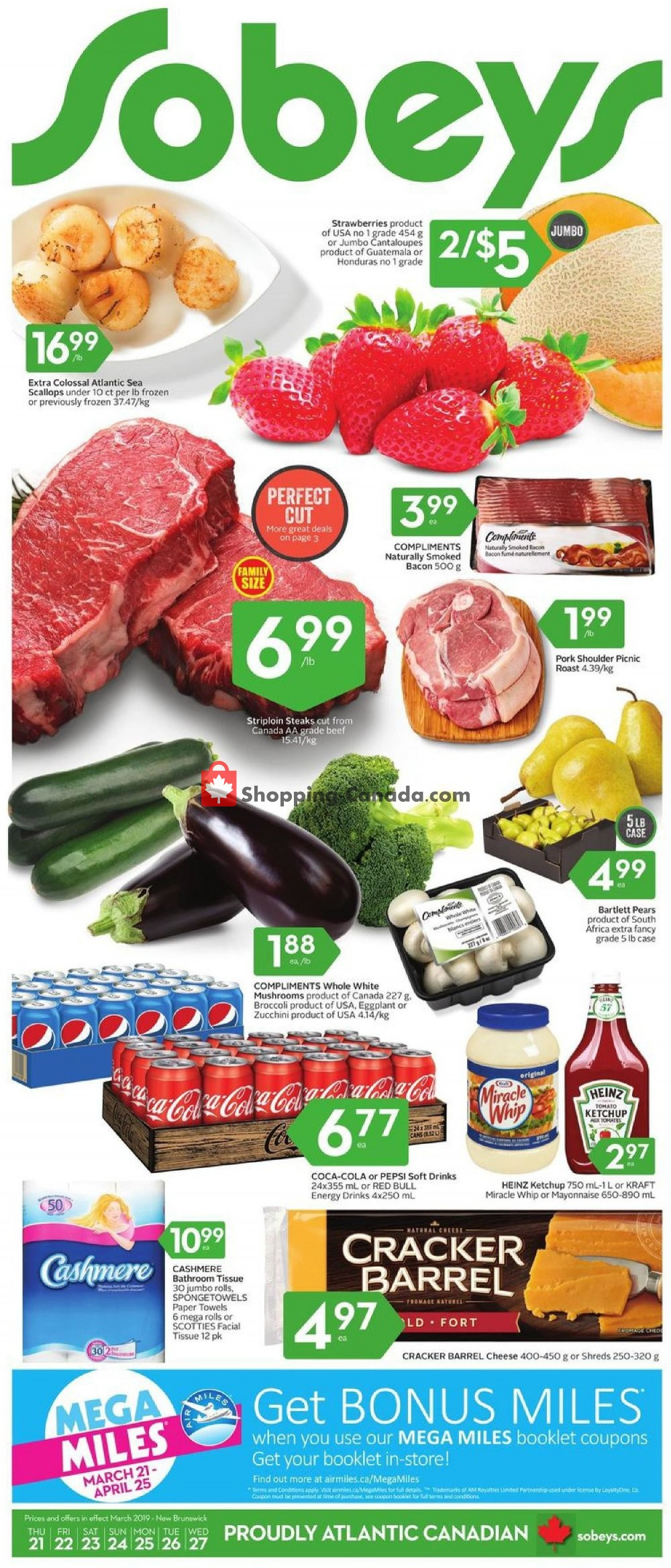 Flyer Sobeys Canada - from Thursday March 21, 2019 to Wednesday March 27, 2019