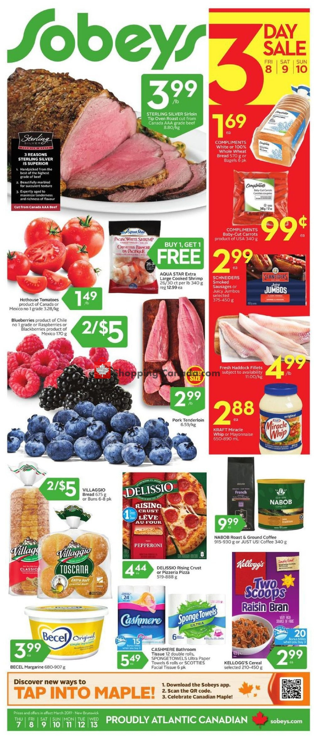 Flyer Sobeys Canada - from Thursday March 7, 2019 to Wednesday March 13, 2019