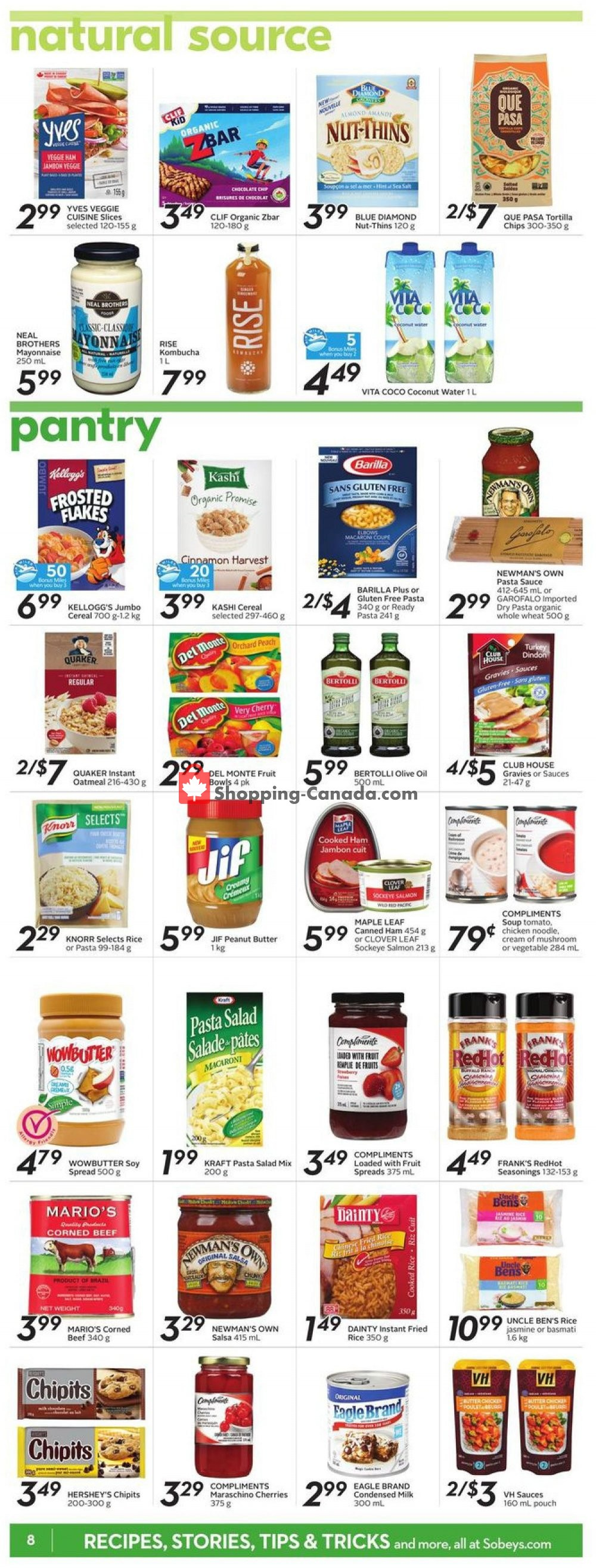 Flyer Sobeys Canada - from Thursday September 5, 2019 to Wednesday September 11, 2019
