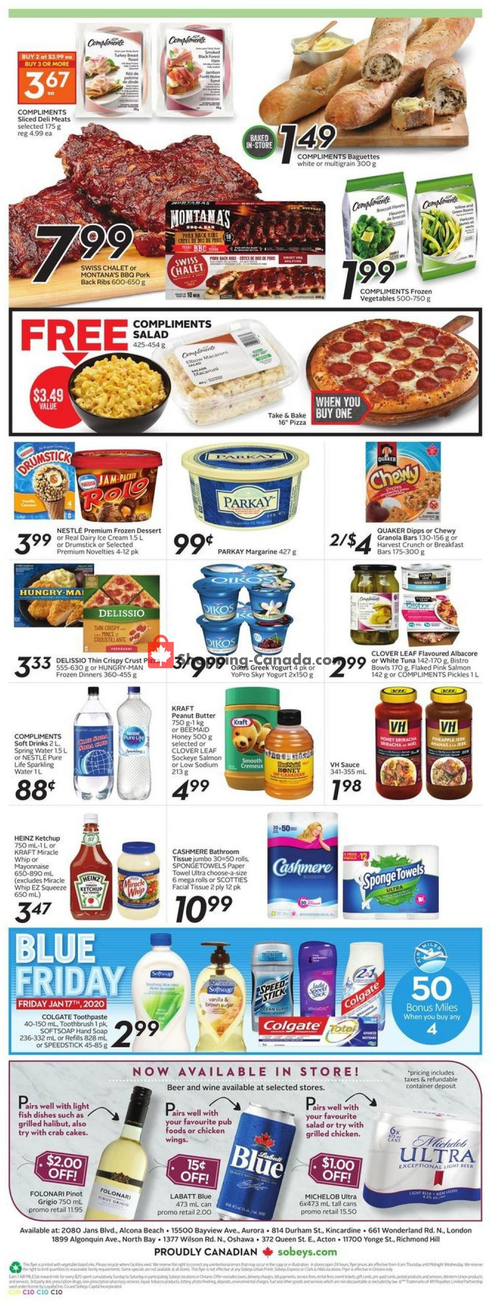 Flyer Sobeys Canada - from Thursday January 16, 2020 to Wednesday January 22, 2020